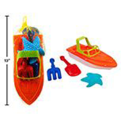 Picture of Beach Play Set Boat 11.5in, 4Pcs - No 15640