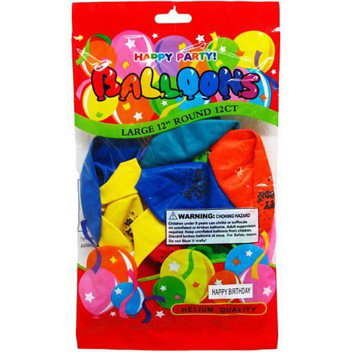 Picture of Baloons Happy-Bday 12Pc 12in - No 9930-8203