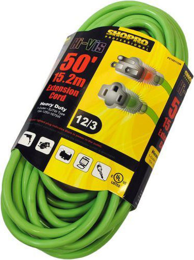Picture of Pwr Ext Cord Od 12/3 50Ft Hi-Vis - No P010911GN