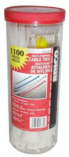 "Picture of Cable Ties 300Pc 4"",8"" Black Uv - No C000325"