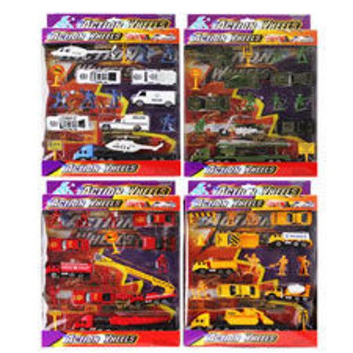 Picture of Car Set 4Asst 17 Die Cast Mini - No 24359