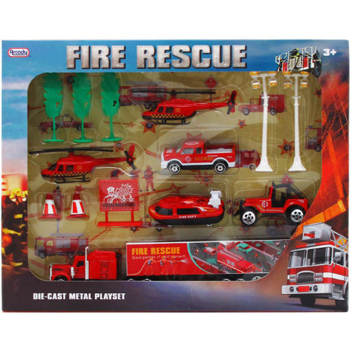 Picture of Firefighter Play Set 14Pcs - No ARY6932