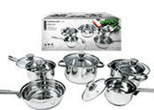 Picture of Cookware Set 9Pcs Ss Gift Box - No 077747