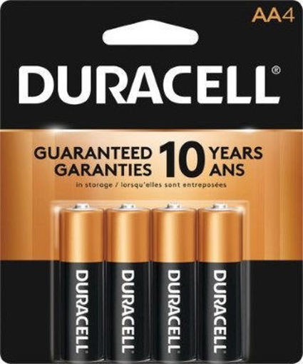 Picture of Battery Duracell Aa 4Pk Copper - No 00041333009612