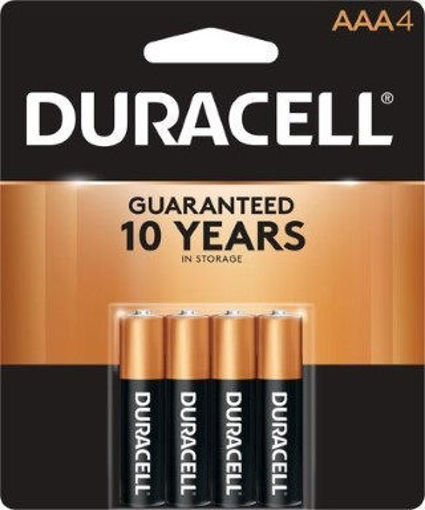 Picture of Battery Duracell Aaa 4Pk Copper - No 00041333014616