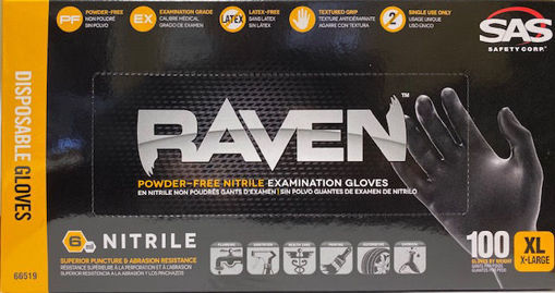 Picture of Gloves Raven 6 Mil Nitrile Xl 100/Bx - No 66519