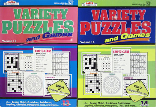 Picture of Puzzle Variety & Games Book - No 844