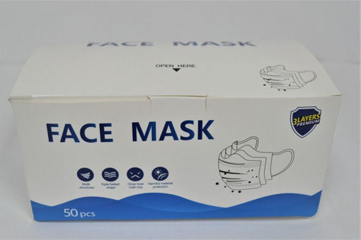 Picture of Disposable Face Mask 3-Layer 50Pk - No 06960