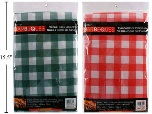 Picture of Tablecloth  52inX70in Flannel-Back - No 83459