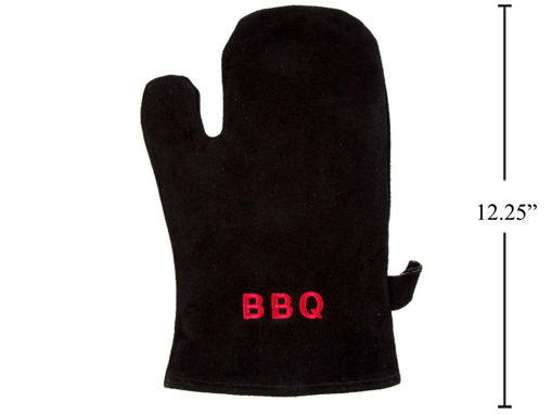 Picture of Bbq Leather Black Mitt, 7.5X12.2 - No 59831