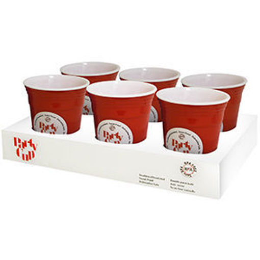 Picture of Cup Party 16Oz Dbl Wall Red - No 077677