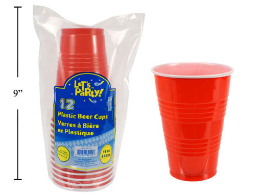Picture of Red Beer Cup 16Oz 12Pk - No 80125