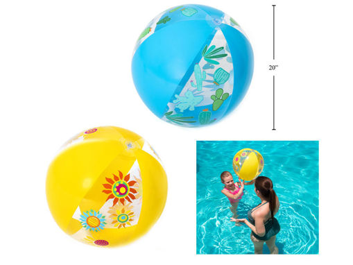 Picture of Designer Beach Ball, 3Asst 20In - No 17763