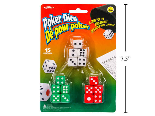 Picture of Poker Dice 15Pc Set - No 11154