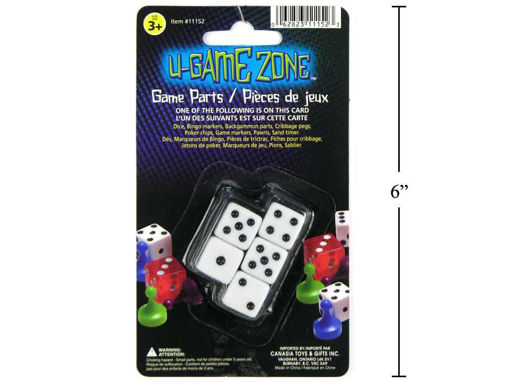 Picture of U-Game Zone 5Pc Square Dice Set - No 11152