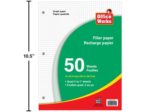 Picture of 50-Sheet 8X10.5in 1/5in Graph Paper - No 20419