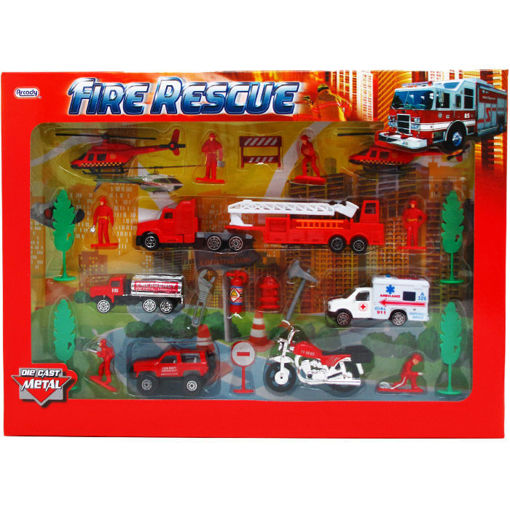 Picture of Die Cast Firefighter 25Pcs - No ARY697
