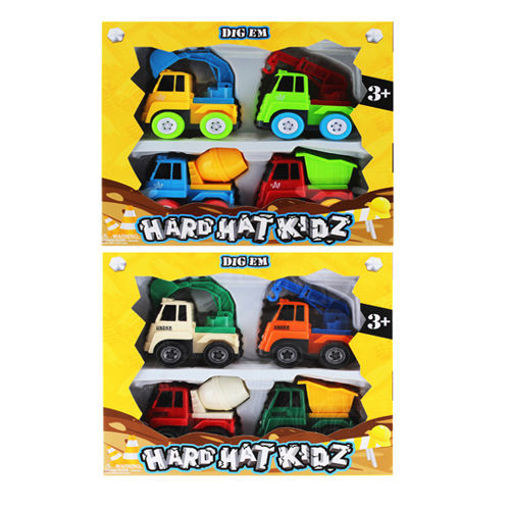 Picture of Construction Truck 4Pcs 3.5in - No 21575