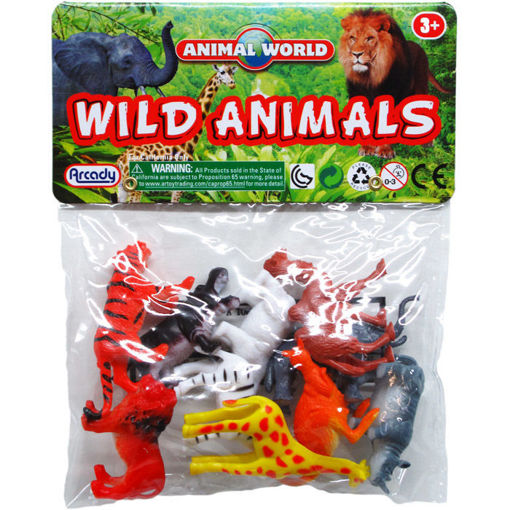 Picture of Wild Animals 2In 10Pc In Pvc Bag - No ARB11810