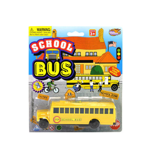 Picture of School Bus On Blister 6in - No 74793