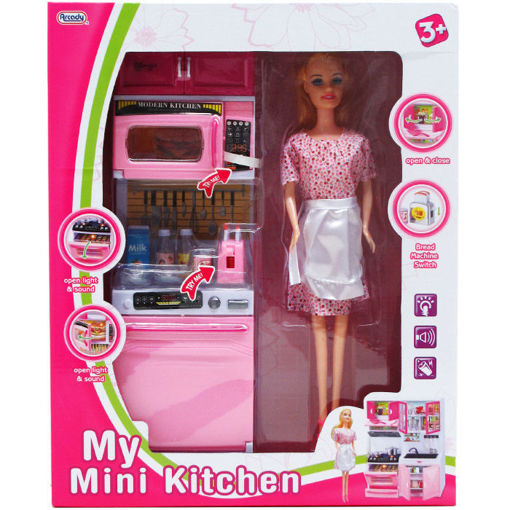 Picture of Doll 11in + Kitchen 12.25in Set - No ARZ5605