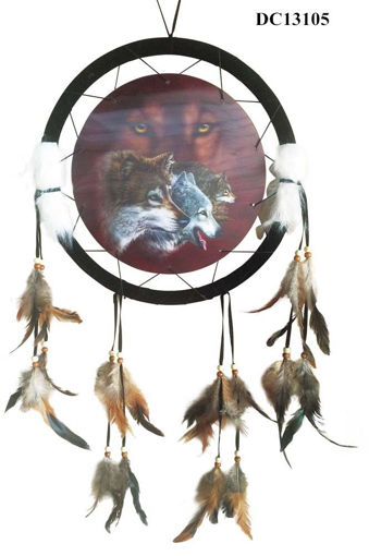 Picture of Dream Catcher 13in 3D Wolf - No DC13105