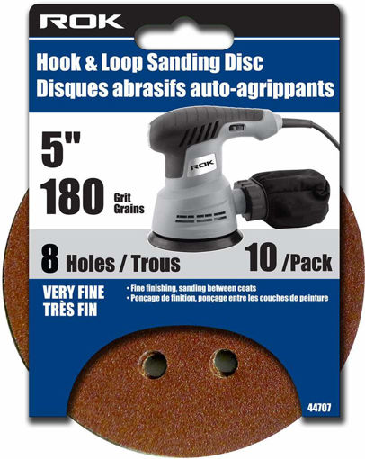 Picture of Sanding Disc 5Pcs 180Gr 8Hole - No 44707