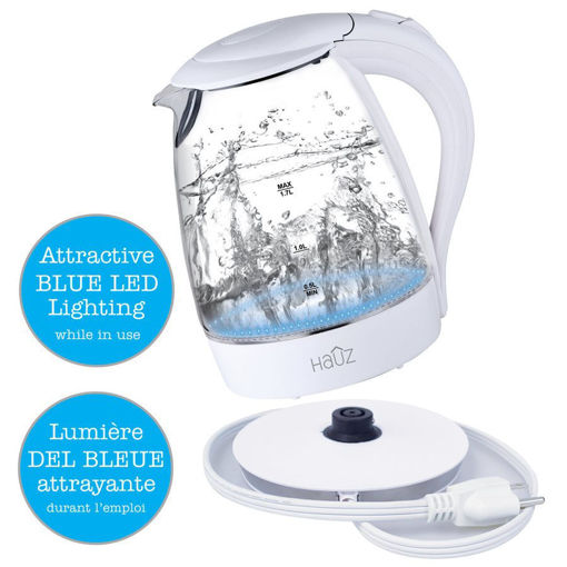 Picture of Kettle 1.7L Glass W/Led Base Wh - No AGK950