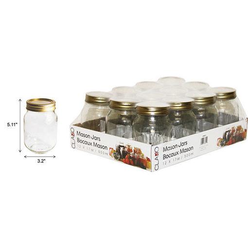 Picture of Jar Canning .5L 12Pcs Screw Lid - No 078511