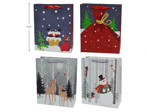 Picture of Xmas Gift Bag-Jumbo 4Ass 13X18X4 - No 33759